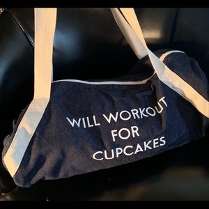 Canvas work out bag